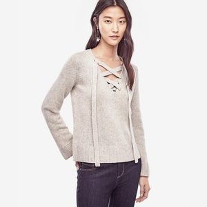 NWOT Ann Taylor Lace Up Sweater